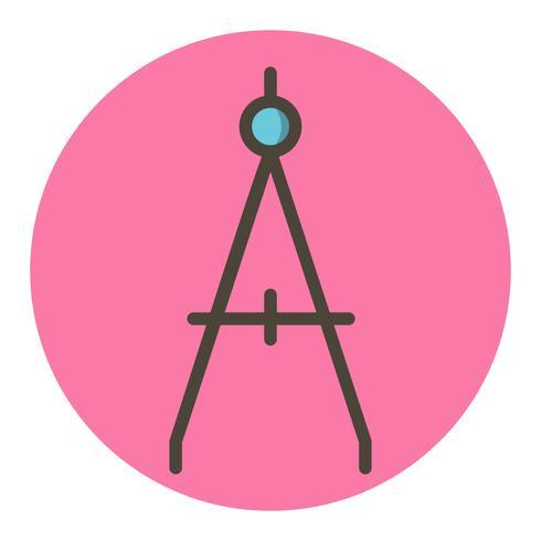 Kompass-Icon-Design vektor