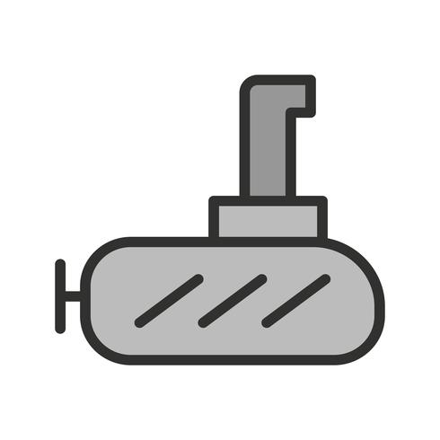 ubåt ikon design vektor
