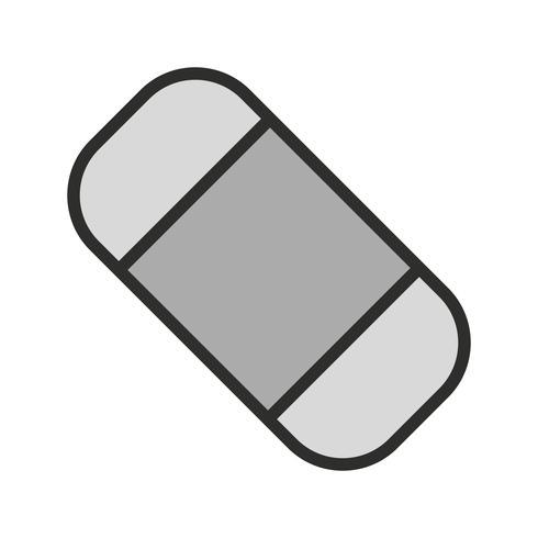 Radiergummi-Icon-Design vektor