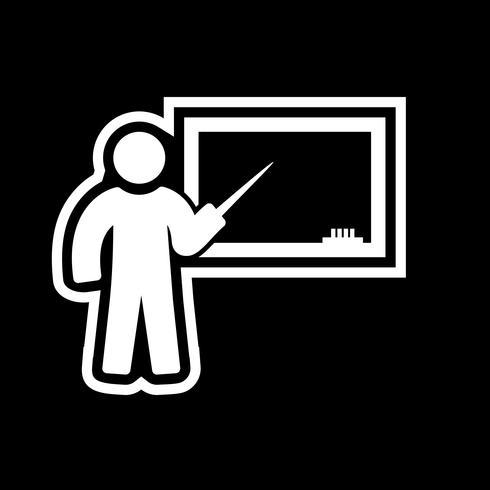 Undervisning Ikon Design vektor