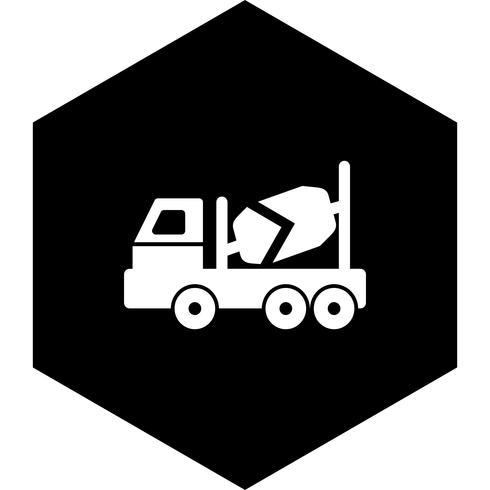 Betonmischer-Icon-Design vektor
