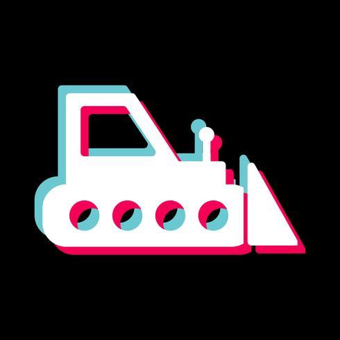 Bulldozer-Icon-Design vektor