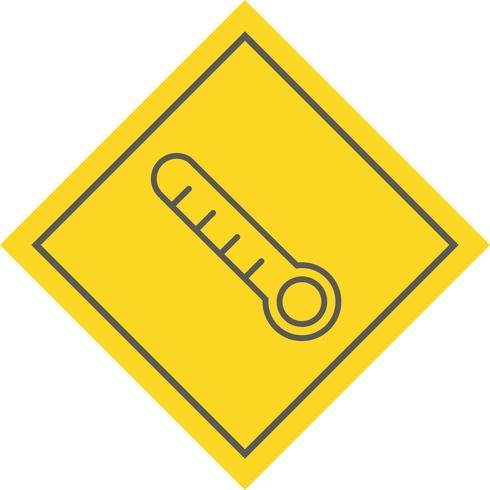 Thermometer-Icon-Design vektor