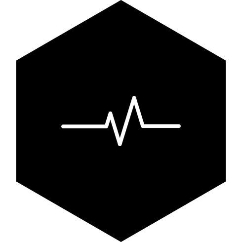 Pulsfrequenz-Icon-Design vektor