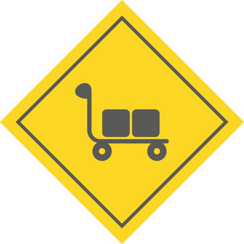 Trolley-Icon-Design vektor