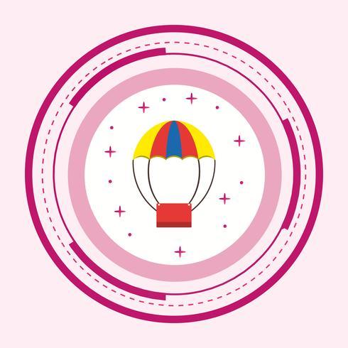 Luftballon-Ikonendesign vektor