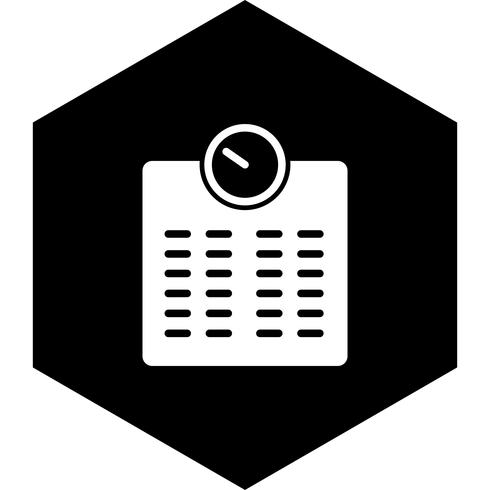 Gewichtungsmaschine Icon Design vektor
