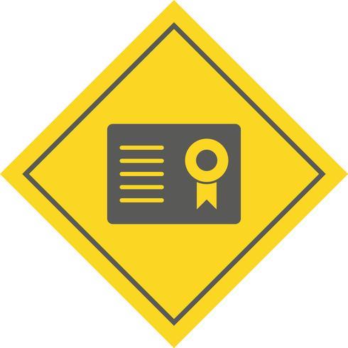 Certifikat Icon Design vektor