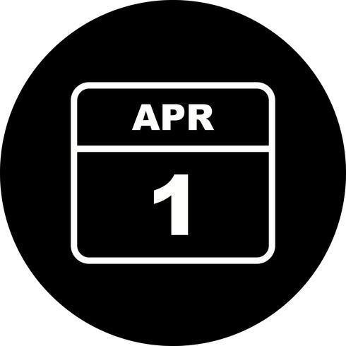 Datum des 1. Aprils für einen Tageskalender vektor