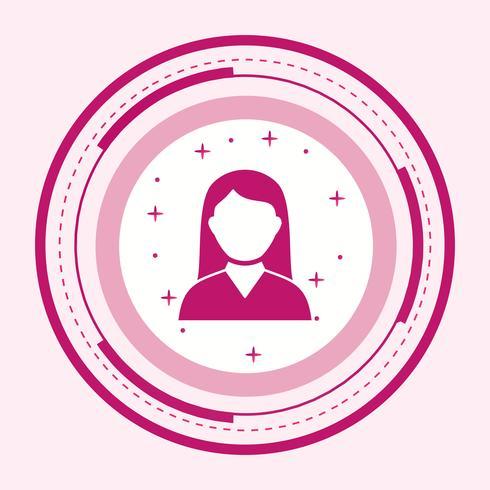 Kvinna Student Icon Design vektor