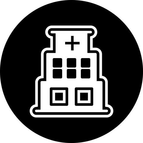 Krankenhaus-Icon-Design vektor