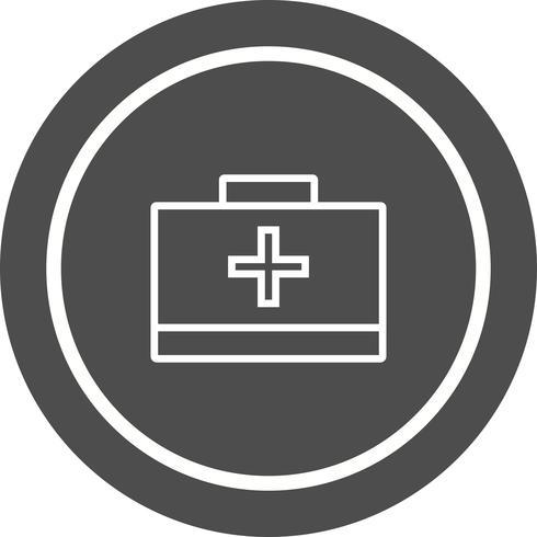 första hjälpen box icon design vektor