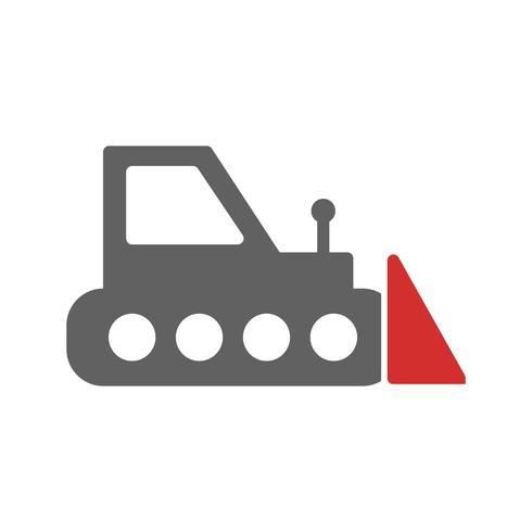 bulldozer ikon design vektor