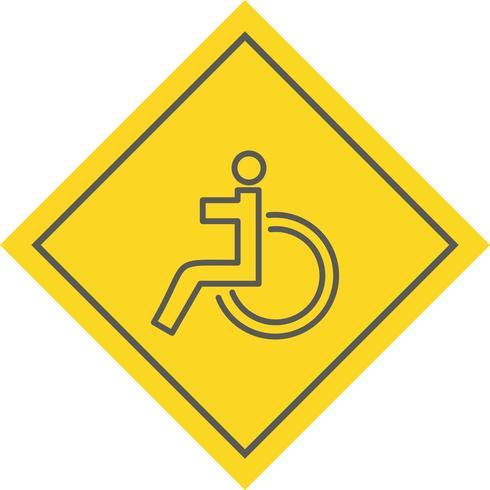 Handikappad Icon Design vektor