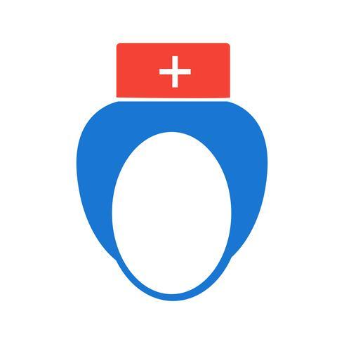 Krankenschwester-Icon-Design vektor
