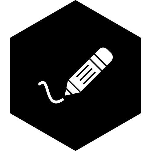 Skrivande ikondesign vektor