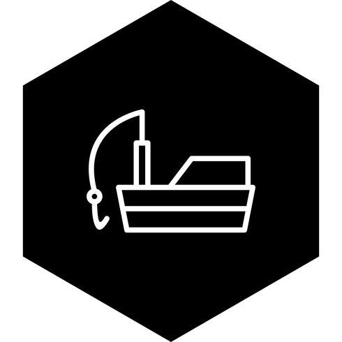 Fiskebåt Icon Design vektor