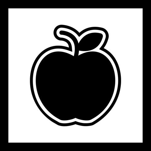 Apfel-Icon-Design vektor