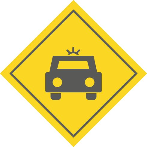 Polizeiauto-Icon-Design vektor