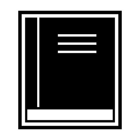 Bok Icon Design vektor