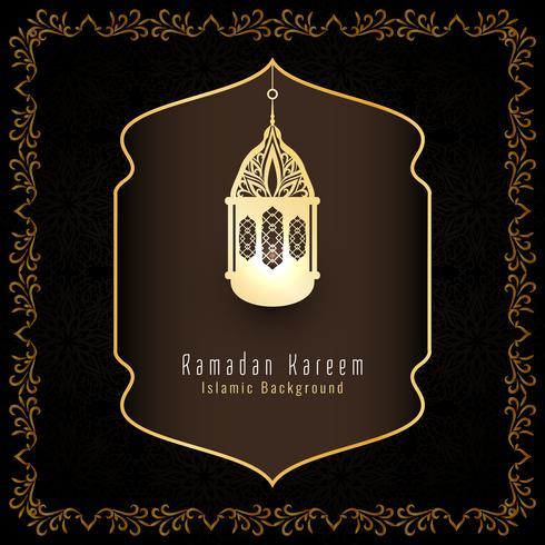 Islamischer Grußhintergrund des abstrakten Ramadan Kareem vektor