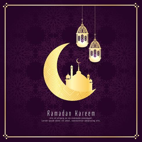 Abstrakt Ramadan Kareem religiös islamisk bakgrund vektor
