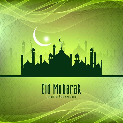 Abstraktes stilvolles Eid Mubarak Festival-Hintergrunddesign vektor