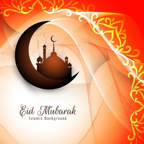 Abstrakt elegant Eid Mubarak hälsning bakgrund vektor