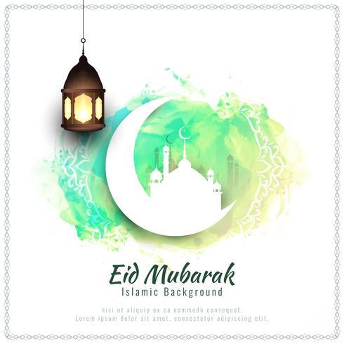 Abstrakt Eid Mubarak akvarell bakgrund illustration vektor