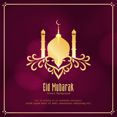 Abstrakt Eid Mubarak Islamisk religiös bakgrund vektor