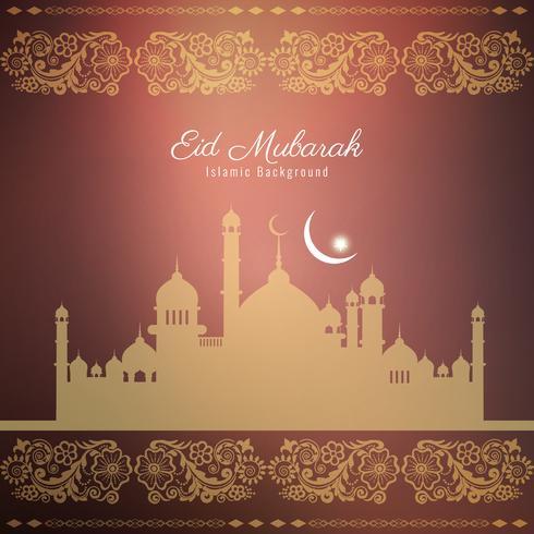 Abstraktes religiöses Hintergrunddesign Eid Mubaraks vektor