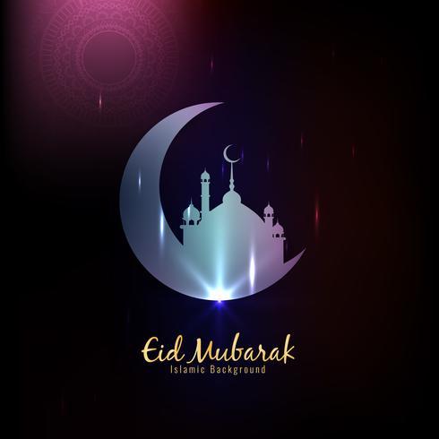 Islamischer religiöser Hintergrund des abstrakten Eid Mubarak vektor
