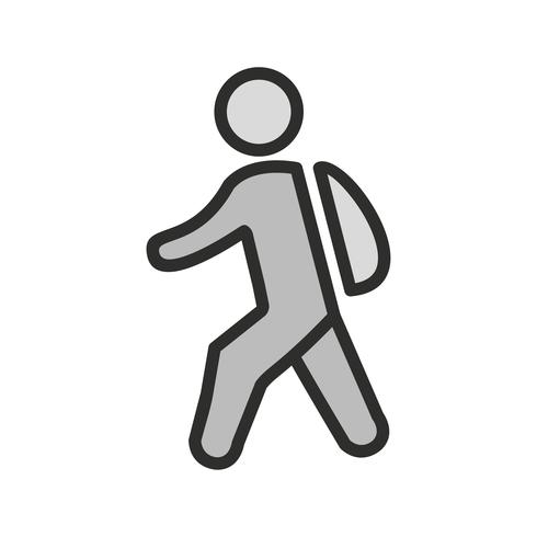 Zu Fuß zur Schule Icon Design vektor