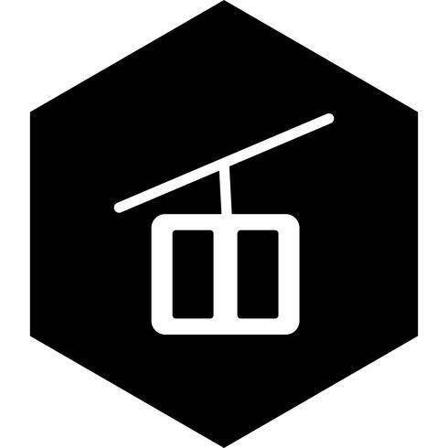 Sessellift Icon Design vektor