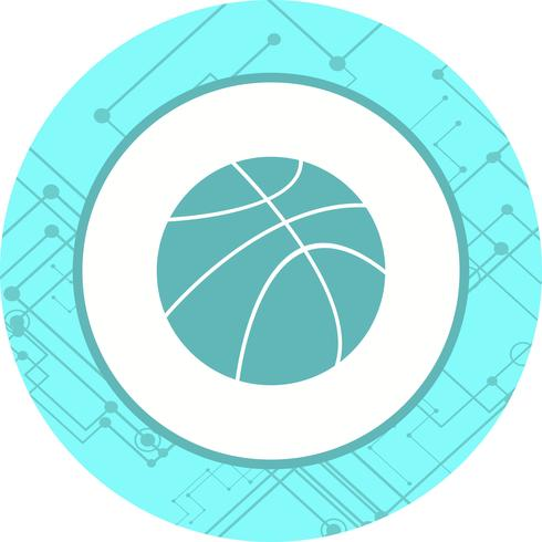 Korbball-Icon-Design vektor