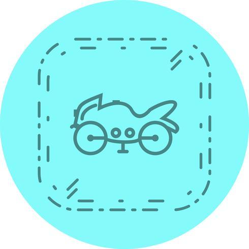 Tung cykel Icon Design vektor