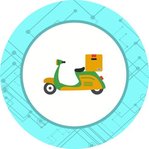Lieferung Motorrad Icon Design vektor