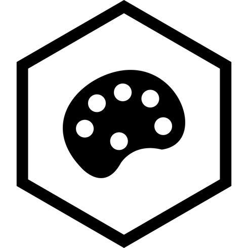 Färg Pallete Icon Design vektor