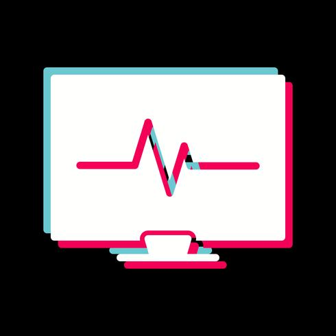 EKG-ikondesign vektor