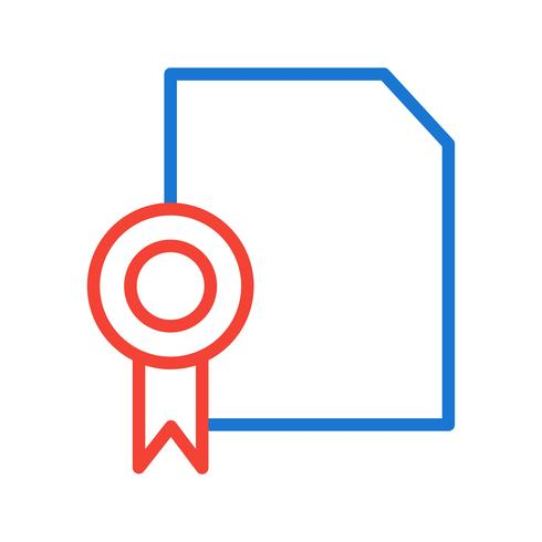 Diplom Icon Design vektor