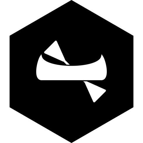 Kanu-Icon-Design vektor