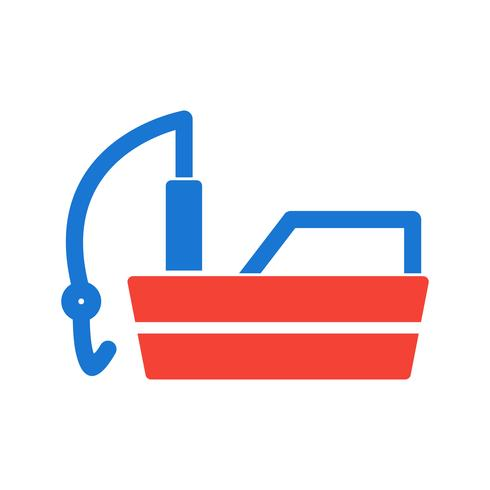 Fischerboot-Icon-Design vektor