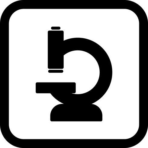 Mikroskop Icon Design vektor