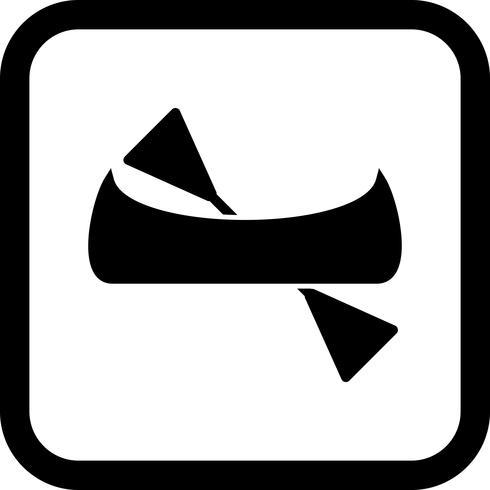 Kanot Icon Design vektor