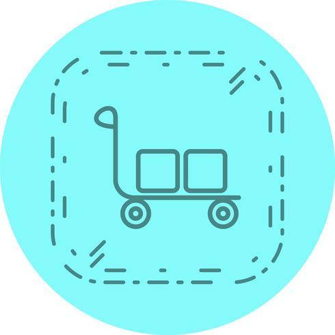 Trolley-Icon-Design vektor