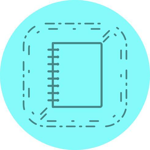 spiral notebook ikon design vektor