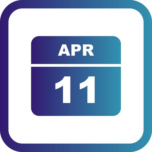11. April Datum an einem Tagkalender vektor