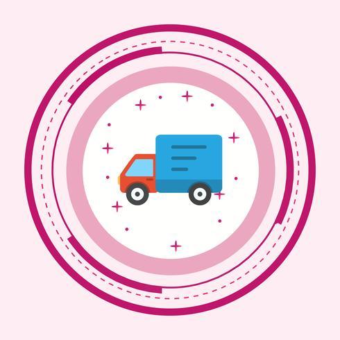 Leverans Truck Icon Design vektor