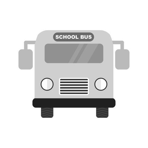 Schulbus Icon Design vektor