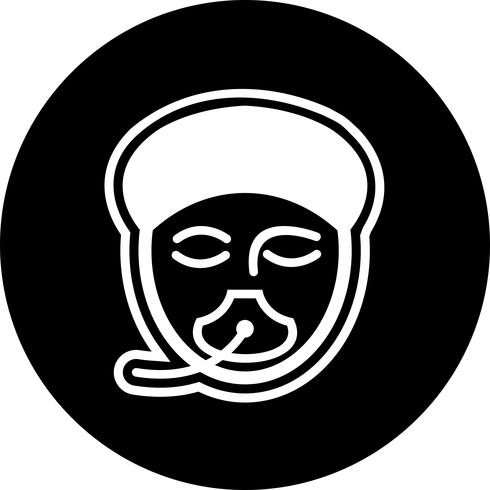 Anästhesie-Icon-Design vektor